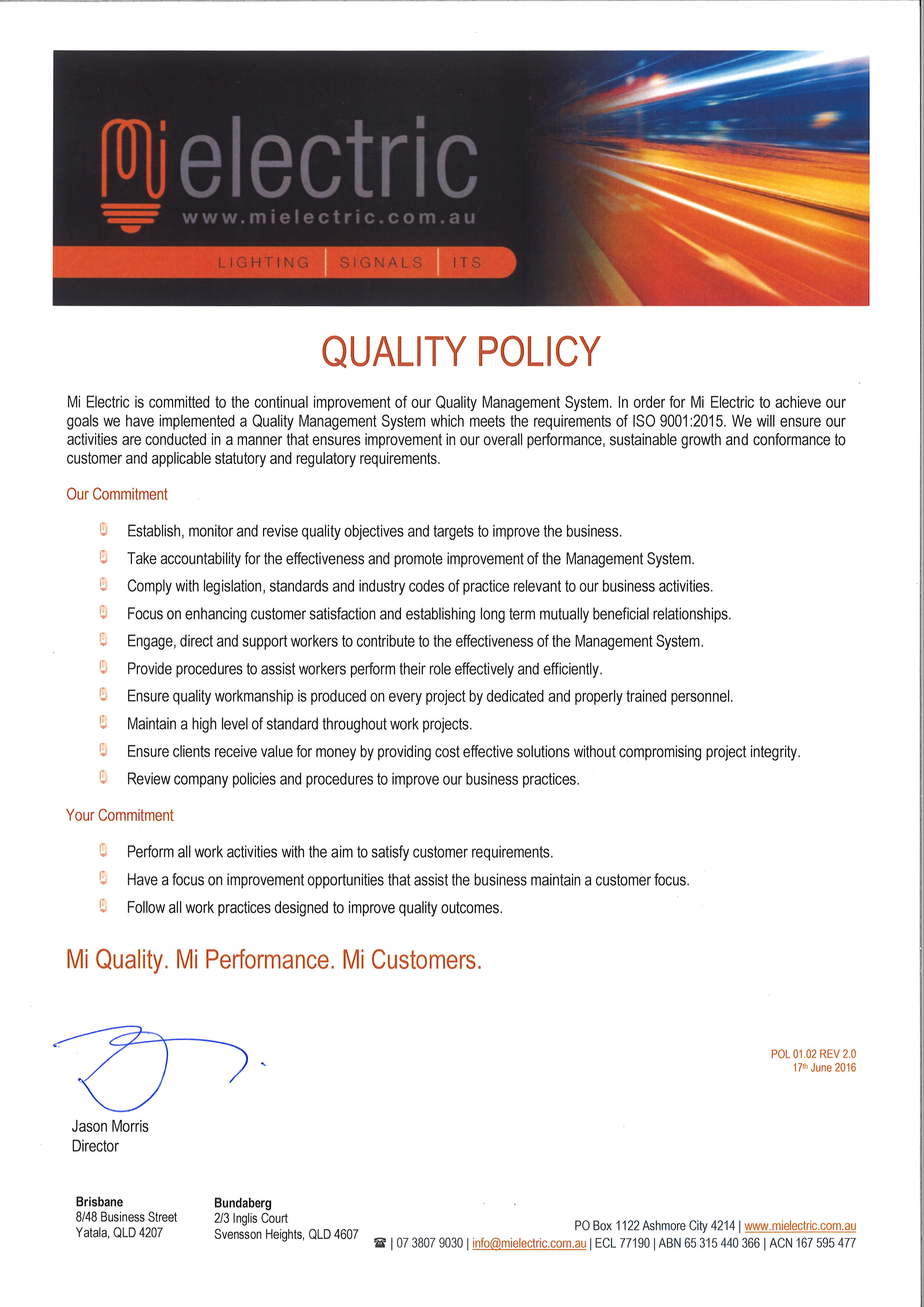 See our Quality Policy. Industrial   Commercial Electrical Contractors   Mi Electric